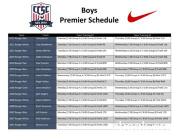Boys Premier Schedule - United Soccer Alliance