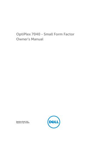 OptiPlex 7040 - Small Form Factor Owner's Manual