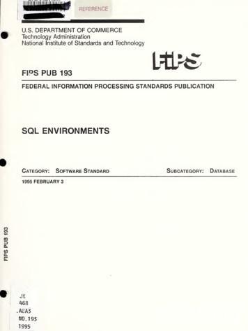 FEDERAL INFORMATION PROCESSING STANDARDS PUBLICATION