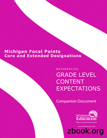 Michigan Focal Points Core and Extended Designations