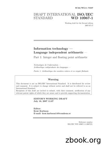 DRAFT INTERNATIONAL ISO/IEC STANDARD - open-std