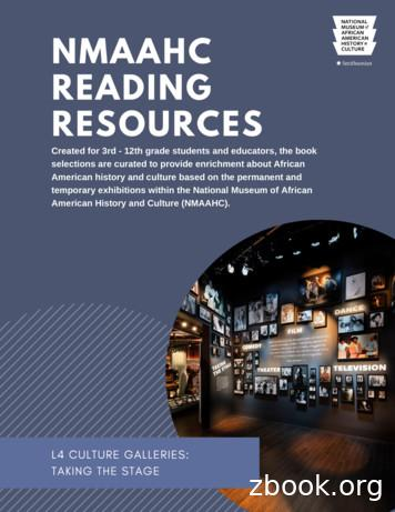 NMAAHC Reading Resources Cultural Galleries TS