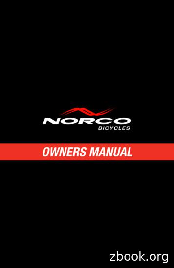 OWNERS MANUAL - Norco Bicycles