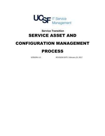 Service Transition SERVICE ASSET AND CONFIGURATION .