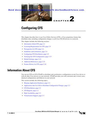 Configuring CFS - Cisco