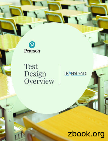 Transcend Test Design Overview Cover - Pearson Assessments