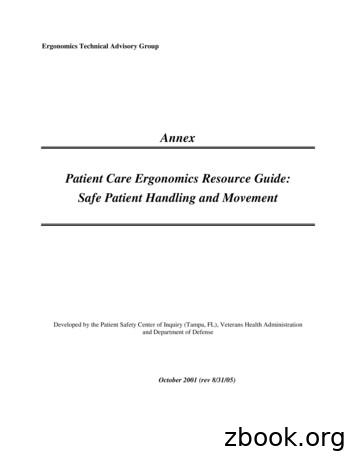 Patient Care Ergonomics Resource Guide: Safe Patient .