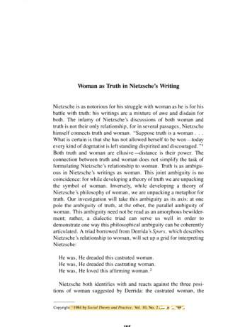 Woman as Truth in Nietzsches Writings