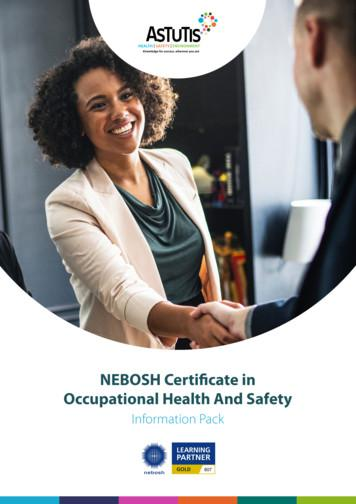 NEBOSH Certificate in Occupational Health And Safety