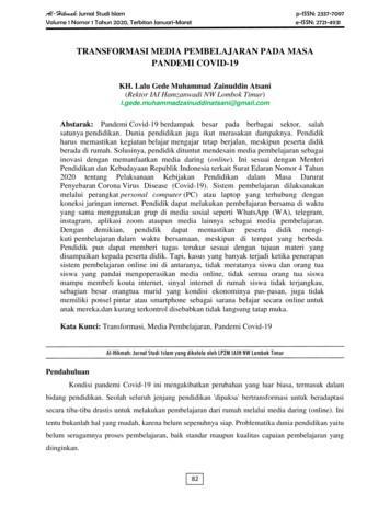 TRANSFORMASI MEDIA PEMBELAJARAN PADA MASA PANDEMI COVID-19