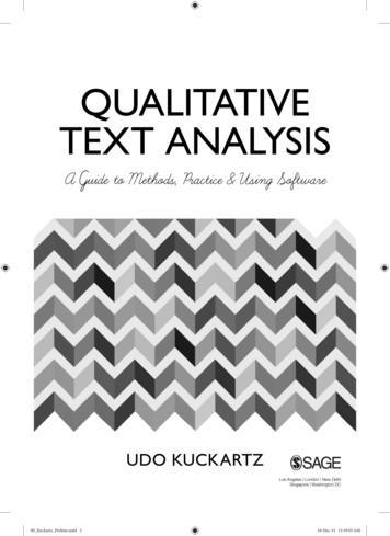 QUalitative text analysis - SAGE Publications Inc