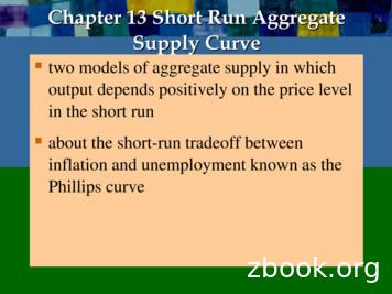 Chapter 13 Short Run Aggregate Supply Curve