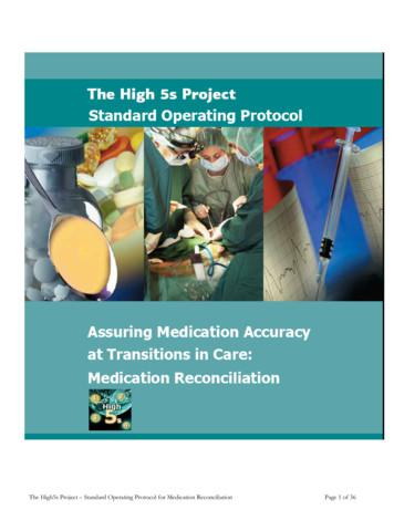 Standard Implementation Protocol for Medication Reconciliation