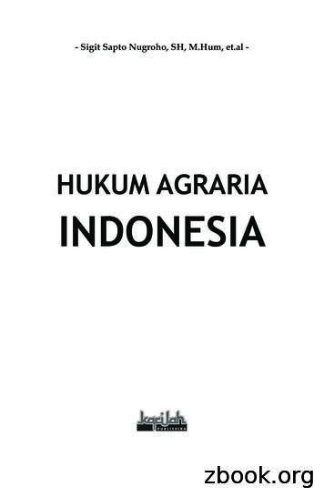HUKUM AGRARIA INDONESIA - IAIN Salatiga