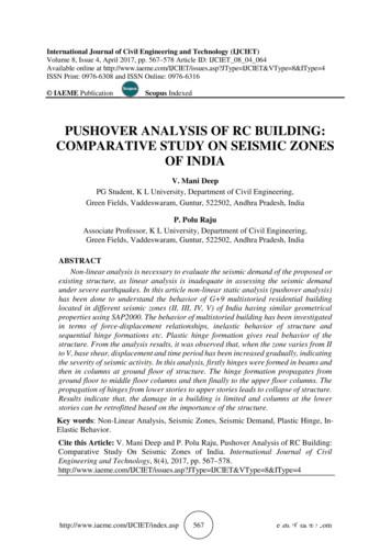 PUSHOVER ANALYSIS OF RC BUILDING: COMPARATIVE STUDY ON .