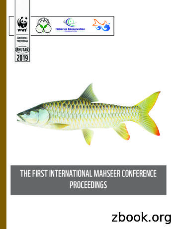 THE FIRST INTERNATIONAL MAHSEER CONFERENCE PROCEEDINGS