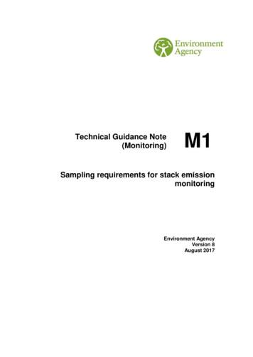 Technical Guidance Note (Monitoring) Sampling requirements .