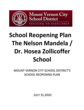 School Reopening Plan The Nelson Mandela / Dr. Hosea .