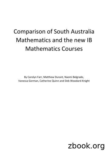 Comparison of South Australia Mathematics and the new IB .