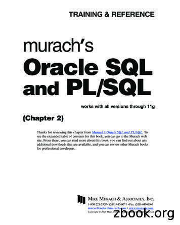 murach Oracle SQL and PL/SQL