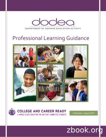 Professional Learning Guidance - DoDEA