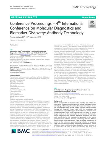 Conference Proceedings – 4th International Conference on .