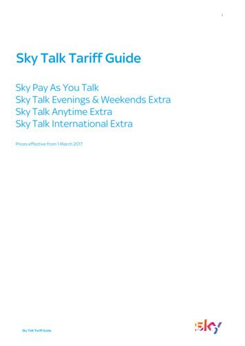 Sky Talk Tariff Guide