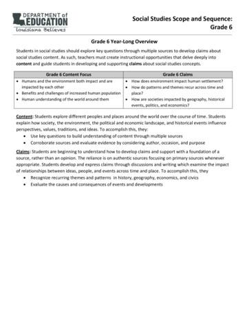 Social Studies Scope and Sequence: Grade 6
