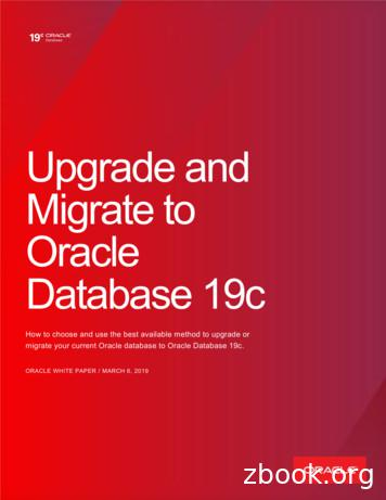 Upgrade and Migrate to Oracle Database 19c