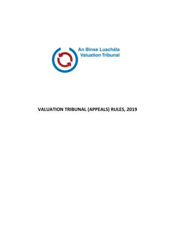 VALUATION TRIBUNAL (APPEALS) RULES, 2019