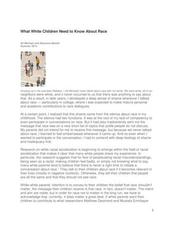 What White Children Need to Know About Race