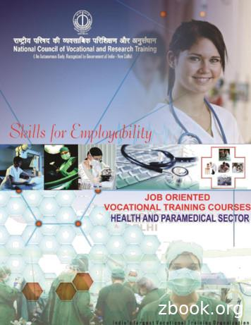 HEALTH AND PARAMEDICAL SECTOR - NCVRT