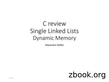 C review Single Linked Lists