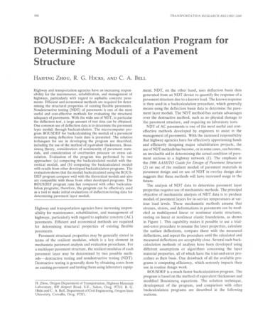 BOUSDEF: A Backcalculation Program for Determining Moduli .