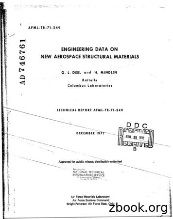 ENGINEERING DATA ON NEW AEROSPACE STRUCTURAL MATERIALS A
