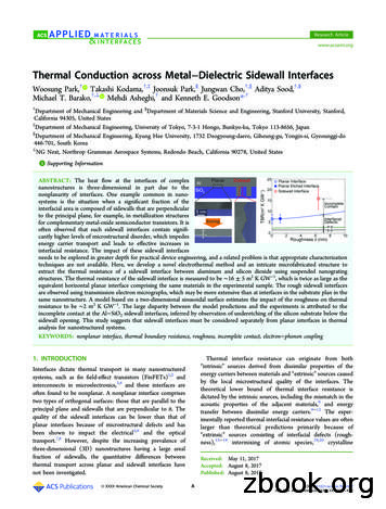 Thermal Conduction across Metal Dielectric Sidewall Interfaces