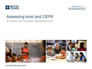 Assessing level and CEFR - TeachingEnglish