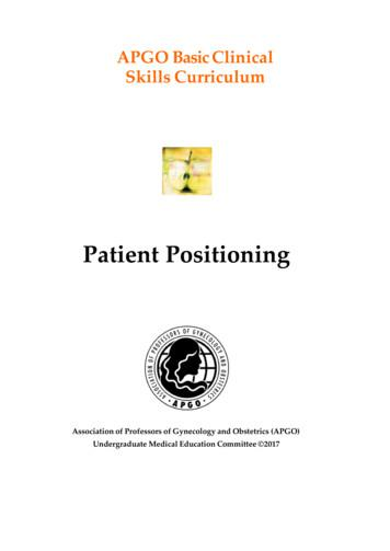 APGO Clinical Skills Curriculum