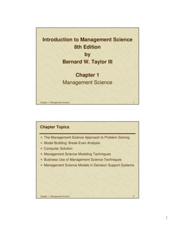 Introduction to Management Science 8th Edition by Bernard .