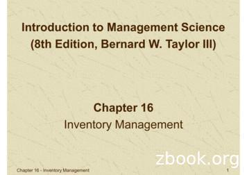 Inventory Management - jeryfarel