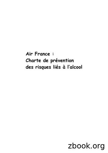 Air France : Charte de pr vention des risques li s