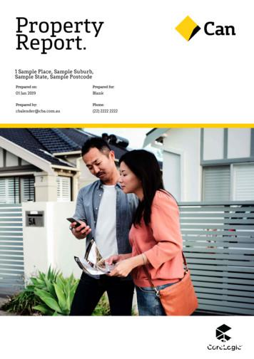 Property Report. - CommBank