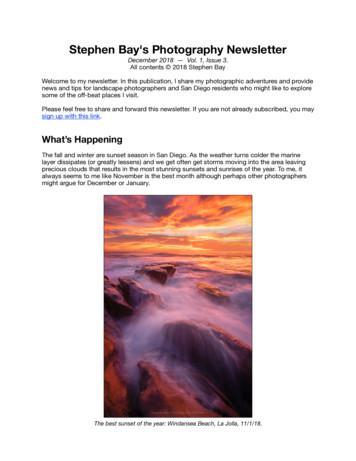 Stephen Bay's Photography Newsletter - San Diego Landscape .