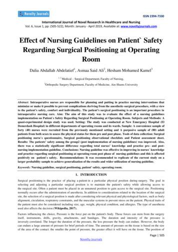 Effect of Nursing Guidelines on Patient Safety Regarding .