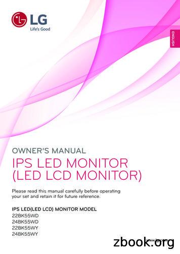 OWNER'S MANUAL IPS LED MONITOR (LED LCD MONITOR)