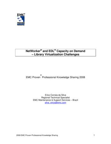 NetWorker and EDL Capacity on Demand – Library .
