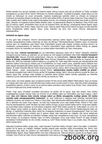 KUHUSU LAANA - WordPress