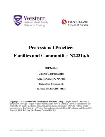Professional Practice: Families and Communities N2221a/b