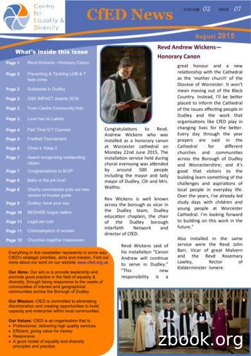 CfED News VOLUME ISSUE