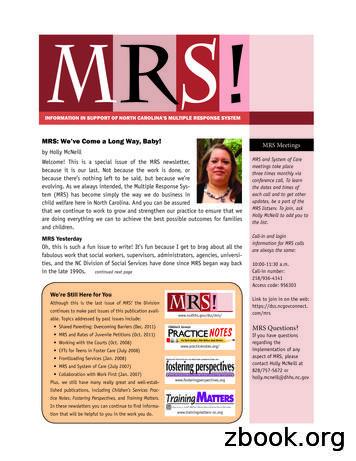 MRS 8v3 DRAFT - North Carolina